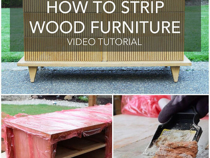 how to strip painted or stained wood furniture diy video tutorial, how to, painted furniture