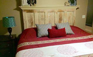 king size 5 panel vintage door headboard by vintage headboards, bedroom ideas, doors, repurposing upcycling