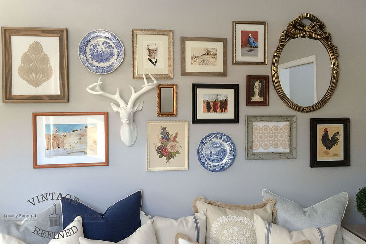 creating a gallery wall, repurposing upcycling, wall decor