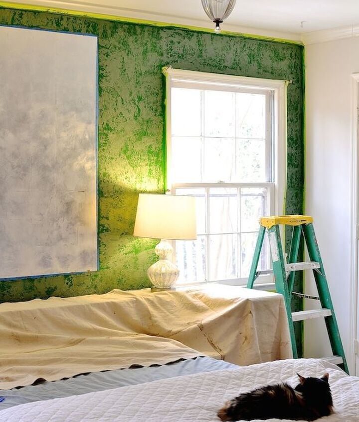 using metallic plaster, bedroom ideas, how to, painting, wall decor