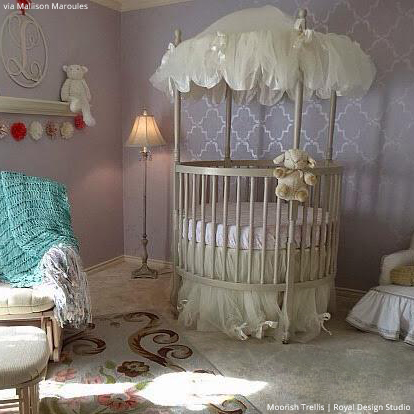 5 baby room decor accent walls ideas with nursery stencils hometalk