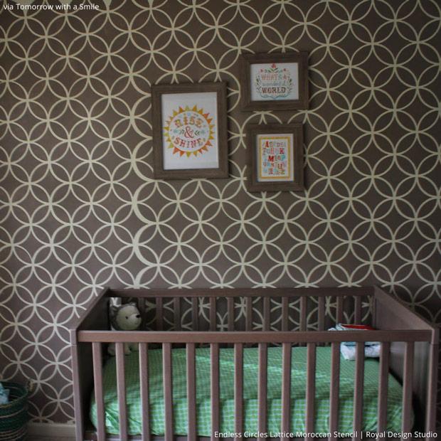 5 Baby Room Decor Accent Walls Ideas With Nursery Stencils