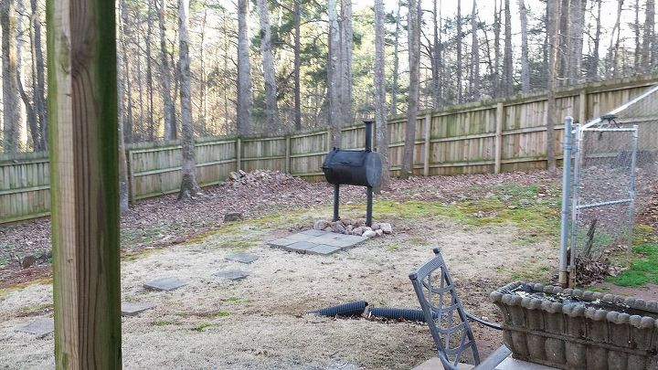 q what to do with a charcoal grill, how to, outdoor furniture, outdoor living