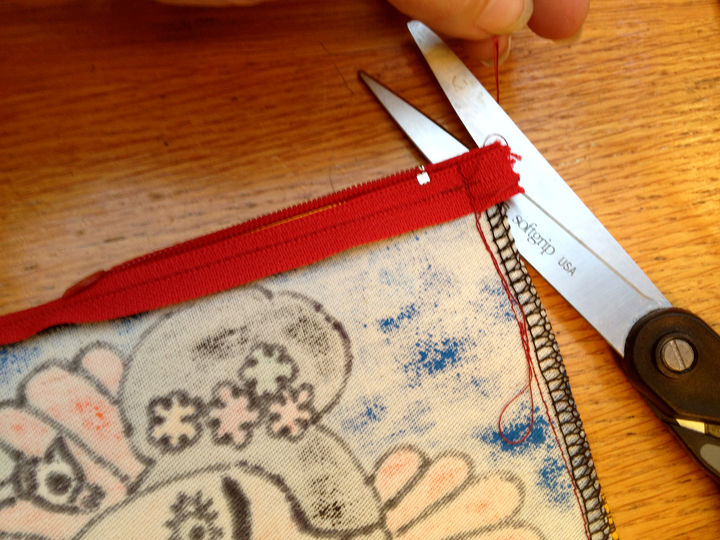 making a bespoke pencil case, crafts, how to, repurposing upcycling