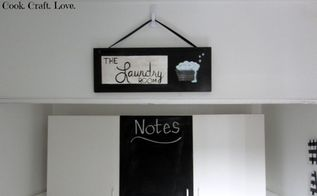 laundry room makeover, chalkboard paint, laundry rooms, wall decor