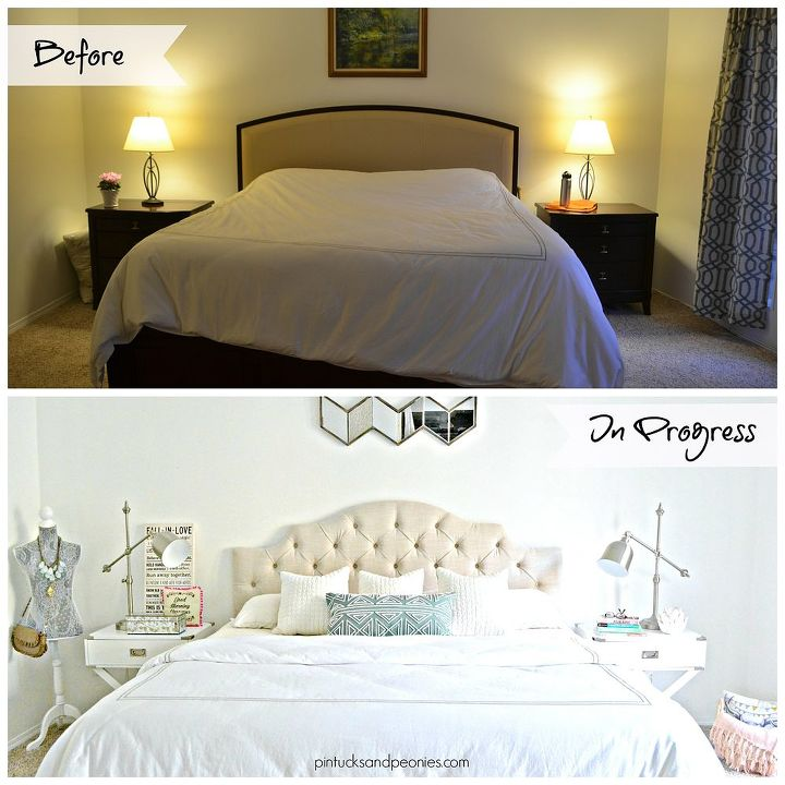 Chic Master Bedroom Makeover Update Ideas Shabby
