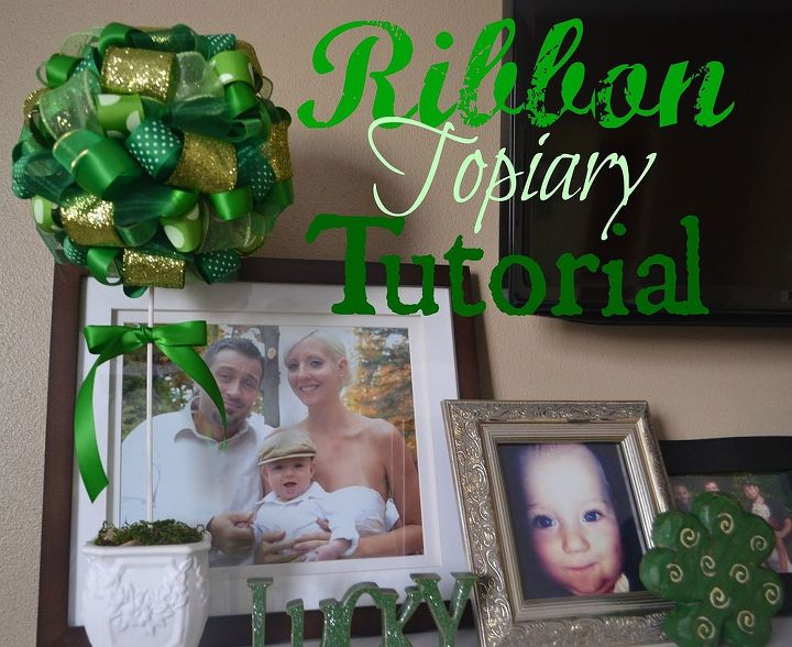 easy st patrick s day ribbon topiary, crafts, how to, seasonal holiday decor