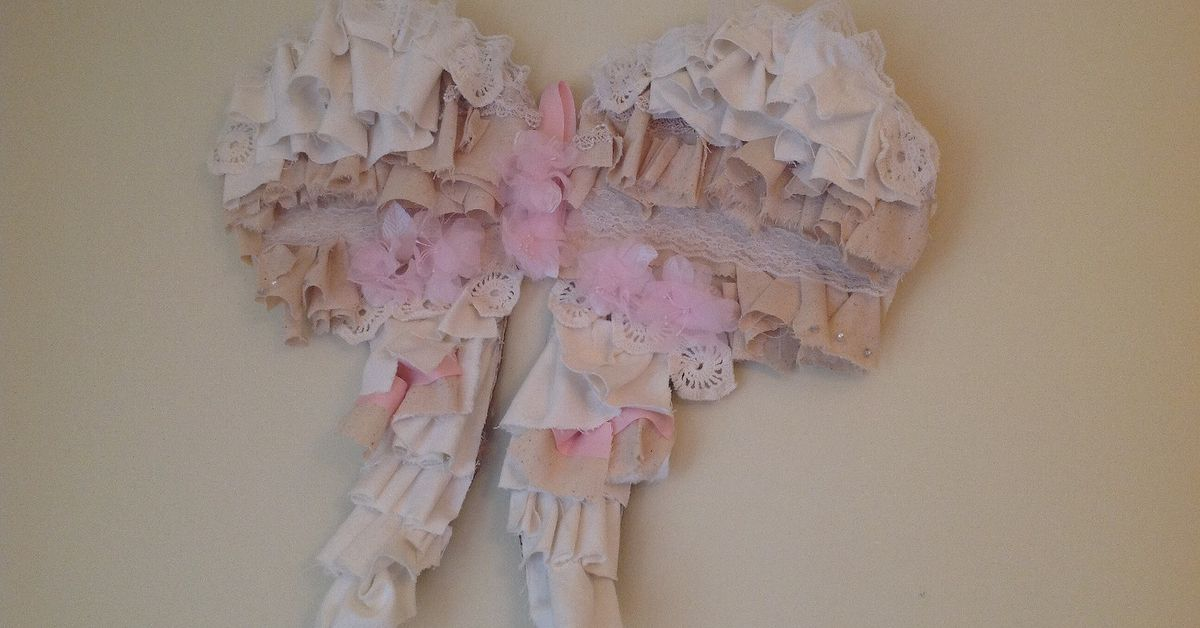 Shabby Angel Wings Wall Art | Hometalk
