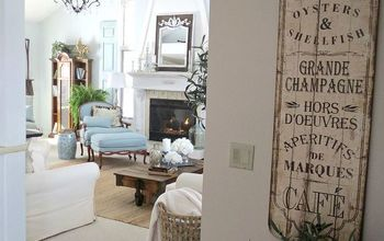 our french country family room, living room ideas, Looking from the dining room