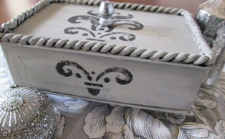whitman s candy box turned jewelry keep sake box recycled, chalk paint, crafts, repurposing upcycling