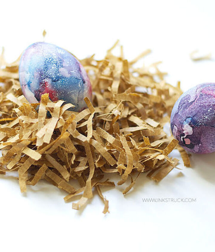 diy galaxy easter eggs, crafts, easter decorations, how to, seasonal holiday decor