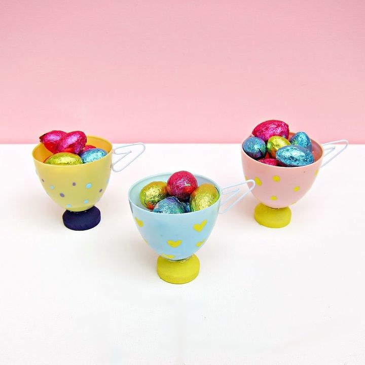 Make Tea Cup Favors Or Decor From Plastic Easter Eggs Crafts Decorations