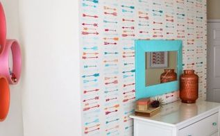 an indian arrows stenciled tween room a giveaway, bedroom ideas, painting, wall decor