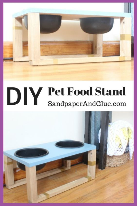 diy pet food stand hometalkeveryday, how to, pets animals, woodworking projects