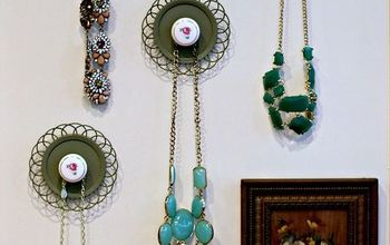 thrift store jewelry hangers, chalk paint, crafts, organizing, repurposing upcycling