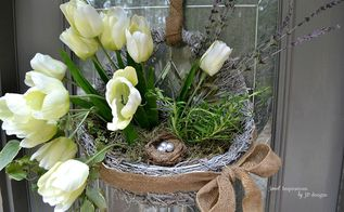 a mossy hanging basket spring re do, crafts, flowers, seasonal holiday decor