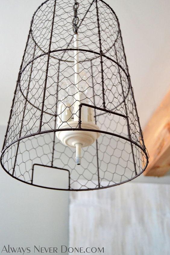 Chicken Wire Storage Basket Pendant Lights | Hometalk
