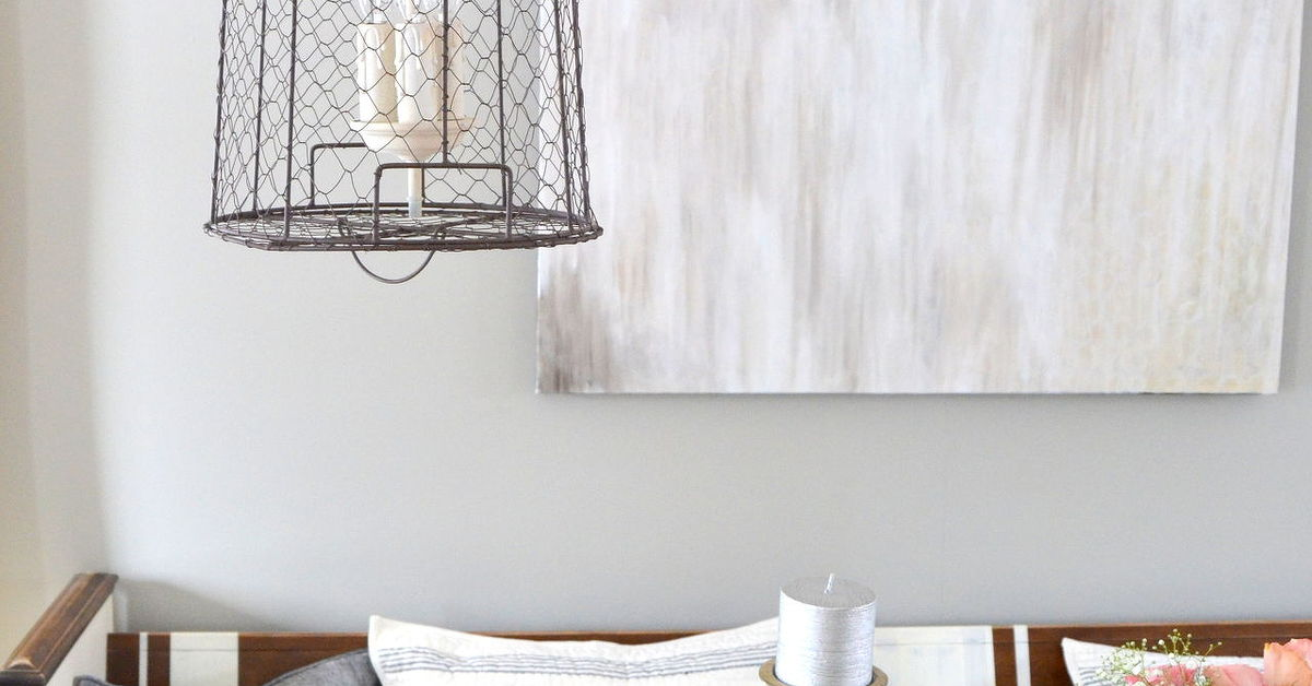 Chicken Wire Storage Basket Pendant Lights | Hometalk