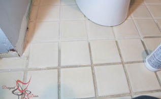 how to remove grout stains the easy way, cleaning tips, how to, tile flooring, tiling