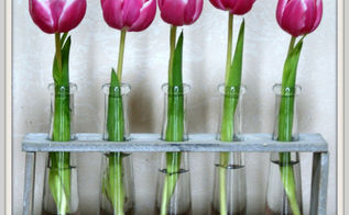industrial chic spring decor, flowers, home decor