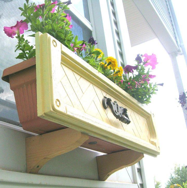 dresser drawer upcyle window boxes, container gardening, gardening, repurposing upcycling