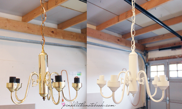Diy Before And After White Chandelier With Crystals And