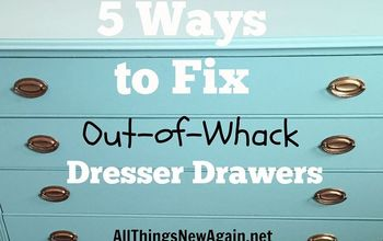 5 Ways to Fix Out-of-Whack Dresser Drawers
