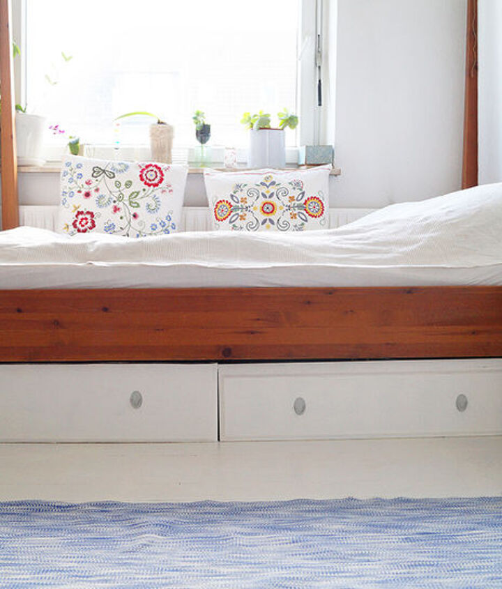 under bed drawers, bedroom ideas, repurposing upcycling, storage ideas