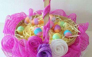 Ruffled Mesh Easter Basket DIY