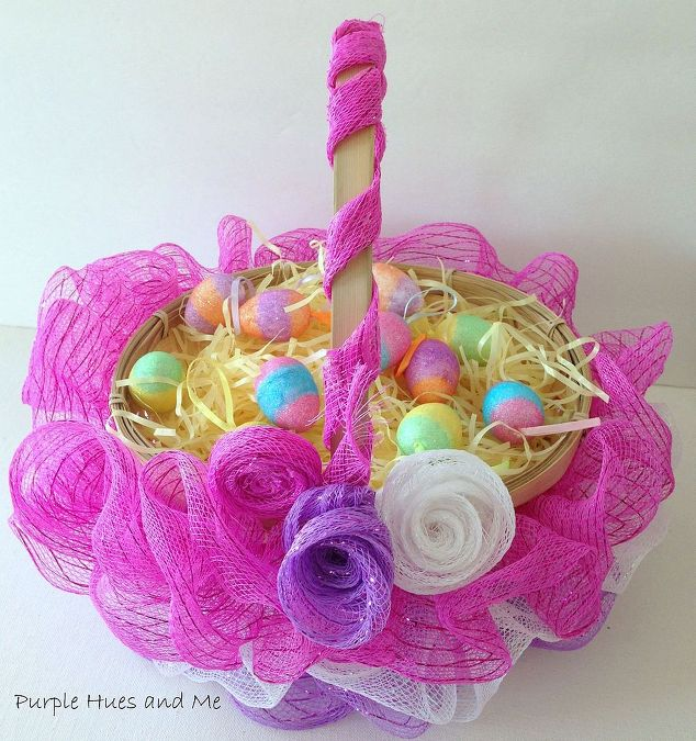 Ruffled Mesh Easter Basket Diy Crafts Decorations How To Seasonal Holiday