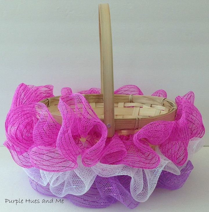 Ruffled Mesh Easter Basket DIY Hometalk