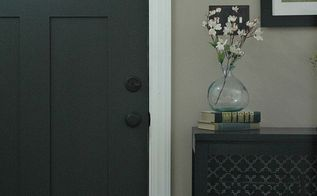 updating the entryway with sherwin williams iron ore, doors, foyer, how to, painting, wall decor