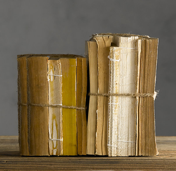 diy restoration hardware inspired antiqued books, crafts, repurposing upcycling