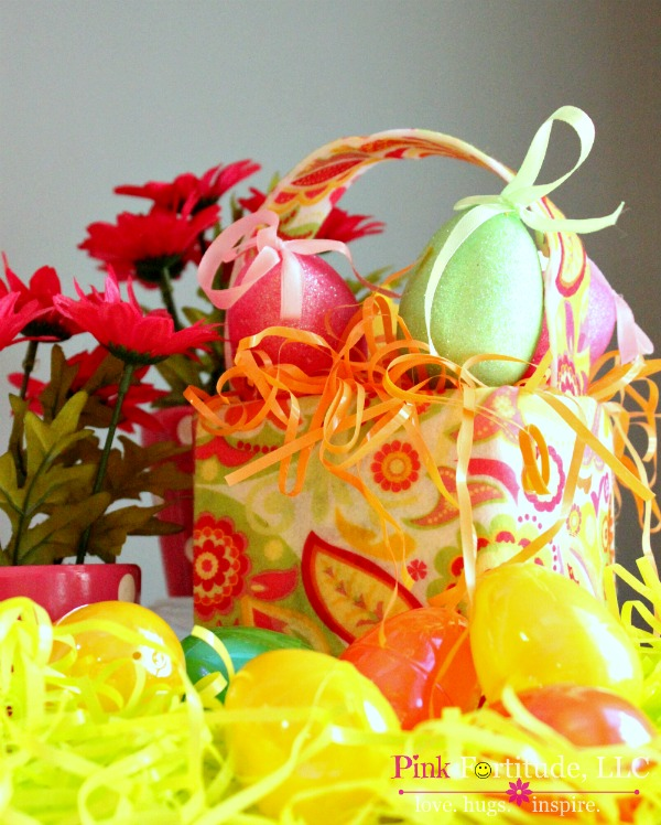 feb2640645da11 lilly pulitzer inspired easter basket craft, crafts, decoupage, easter  decorations, seasonal holiday