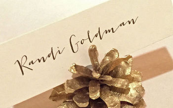 Easy & Elegant DIY Wedding Decor: Gold Pine Cone Place Card Holders