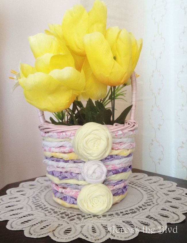 spring flower basket, crafts, how to, seasonal holiday decor