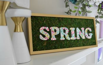 Easy Spring Mantel Sign