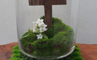 easter cross centerpiece, crafts, dining room ideas, easter decorations, how to, seasonal holiday decor