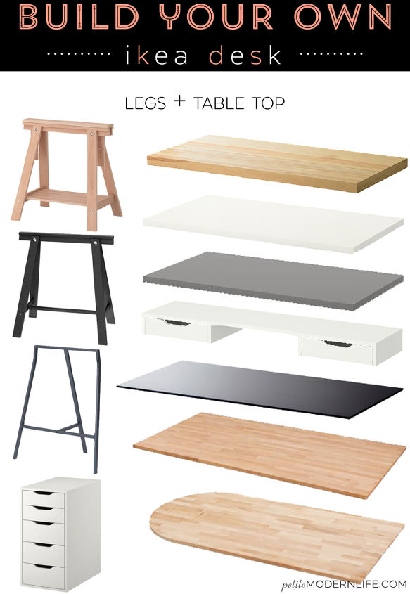 Build Your Own Ikea Desk Home Office Painted Furniture