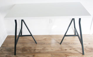 build your own ikea desk, home office, painted furniture Karisa Grimstad