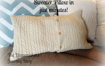 The Made in Minutes Sweater Pillow