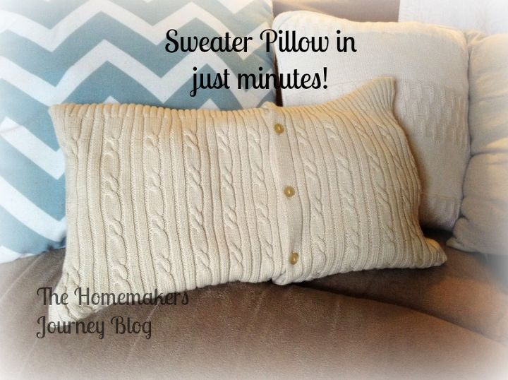 the made in minutes sweater pillow, crafts, how to, repurposing upcycling