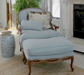 Charming Reupholstering A Chair And Ottoman, How To, Painted Furniture, Reupholster