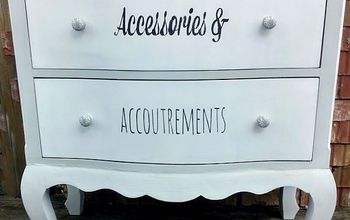 dresser makeover with stenciled drawers, chalk paint, painted furniture