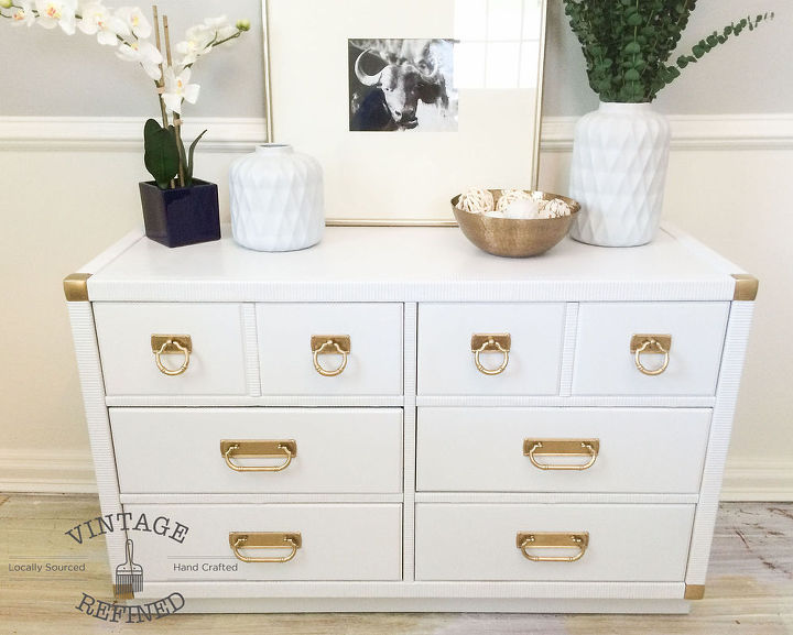 White Lacquer Dresser Painted Furniture