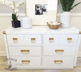 Charmant White Lacquer Dresser, Painted Furniture