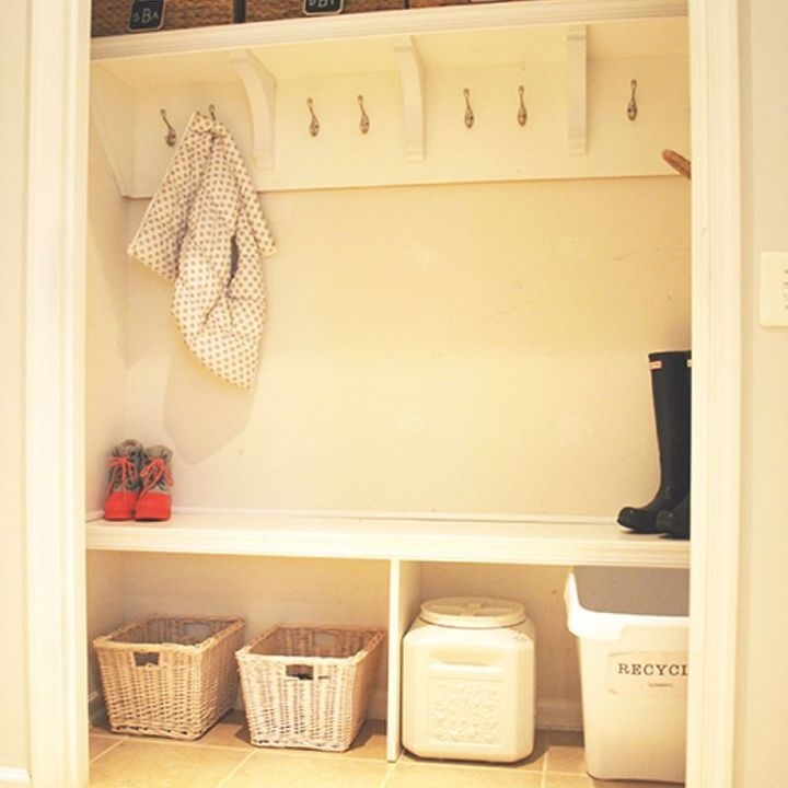 How To Create A Mudroom From Closet Foyer
