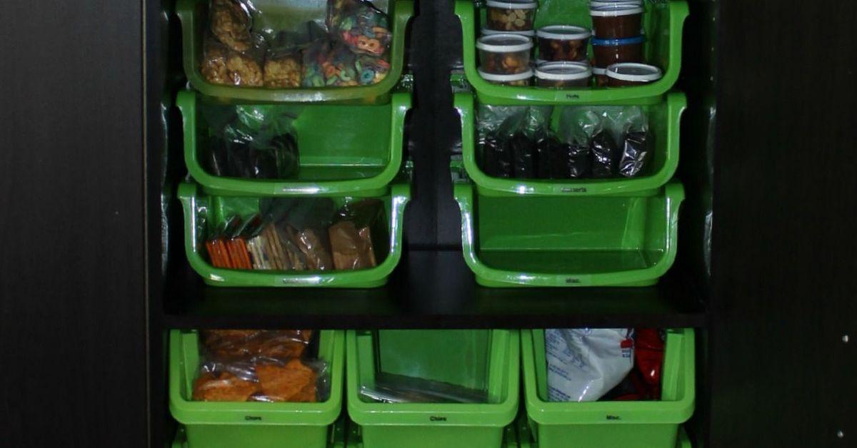 Organized Snack Cabinet Hometalk