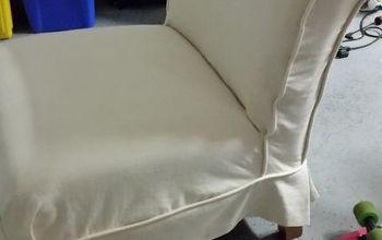 diy slipcover, how to, painted furniture, reupholster