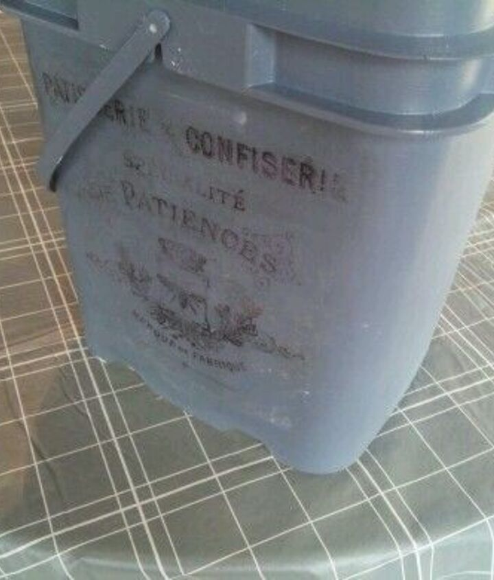 another painted cat litter container